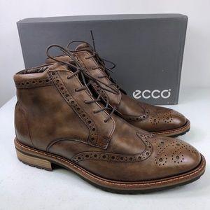 Ecco Men's Vitrus Wingtip Leather Boots